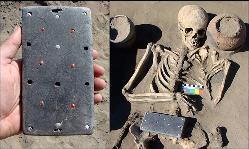 Archaeologists Find iPhone-Shaped, Gem-Studded Object at Ancient Siberian Burial Ground 000_43_orig