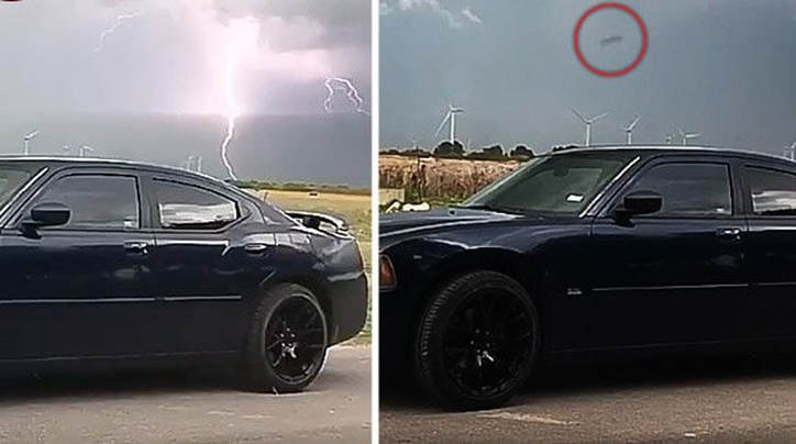 UFO News ~ Bizarre object flies out of Texas thunderstorm plus MORE 00000000000000000_21