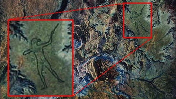 NASA satellite image shows revitalized 'Marree Man', a 17-mile ancient carving in the Australian Outback Mysteriousman-2